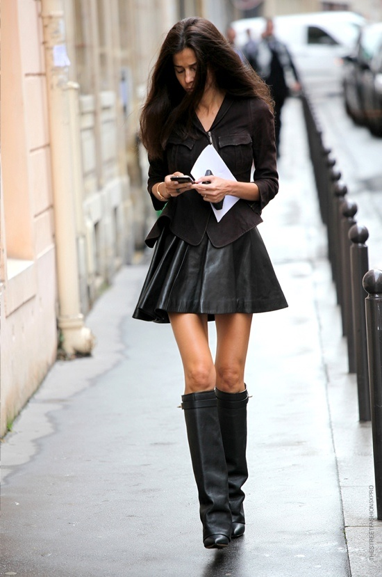 12 Fashion Gallery STREETSTYLE #Black Stack# Winter 2012-2013 on charliestine.net
