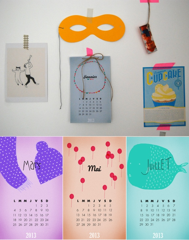 15 Free printable 2013 calendars on charliestine.net