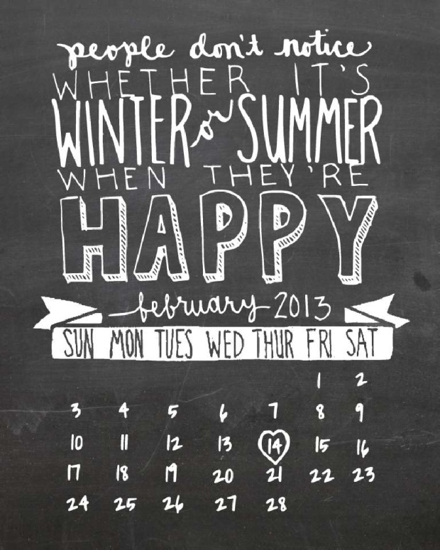 2 Free printable 2013 calendars on charliestine.net