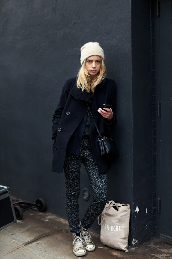 7 Fashion Gallery STREETSTYLE #Black Stack# Winter 2012-2013 on charliestine.net