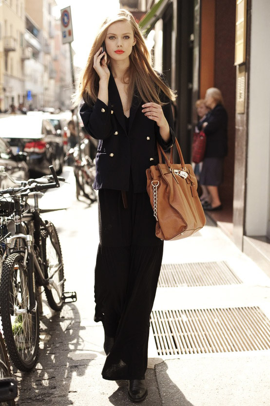 8 Fashion Gallery STREETSTYLE #Black Stack# Winter 2012-2013 on charliestine.net