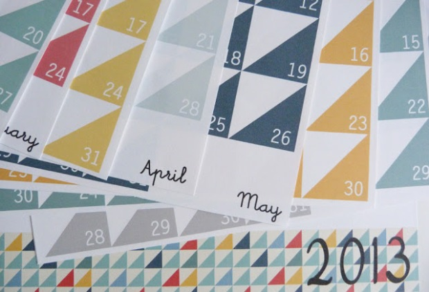 9 Free printable 2013 calendars on charliestine.net