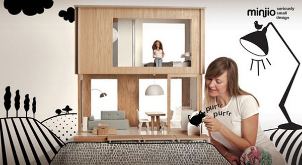 6 Miniio Modern Doll House on CharliEstine.net