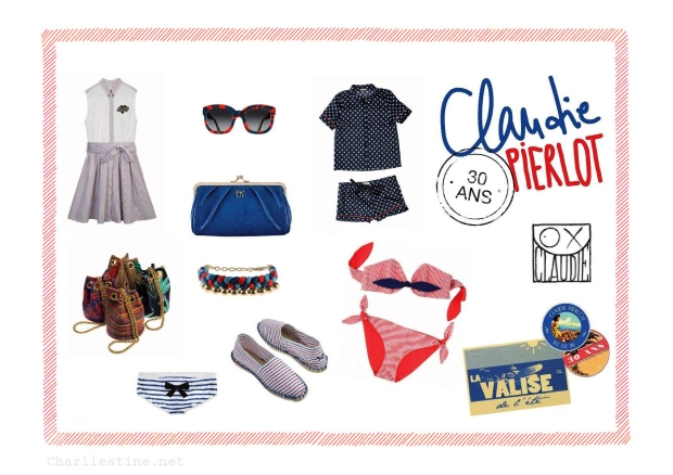 Claudie Pierlot La valise de l'Eté 2013 on CharliEstine.net