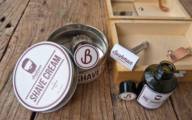 2 Bushman Grooming Kit branding by Nick Johnston on CharliEstine.net