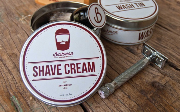 3 Bushman Grooming Kit branding by Nick Johnston on CharliEstine.net