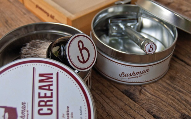 4 Bushman Grooming Kit branding by Nick Johnston on CharliEstine.net