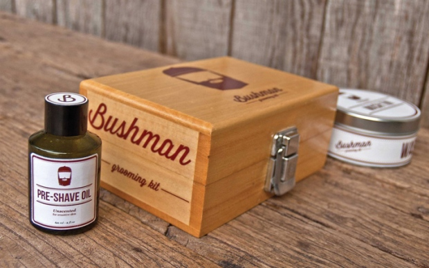 5 Bushman Grooming Kit branding by Nick Johnston on CharliEstine.net