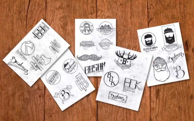6 Bushman Grooming Kit branding by Nick Johnston on CharliEstine.net